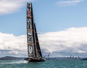 Americas Cup sailing boat
