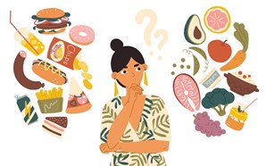 A food dilemma - caught between healthy options and junk food