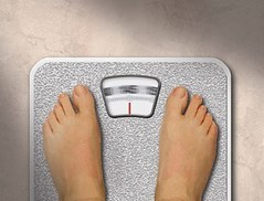 Feet on weighing scales. Source: medicalimages.com