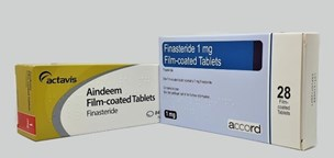 Aindeem and Finasteride boxes