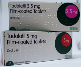 Tadalafil 2.5mg and 5mg