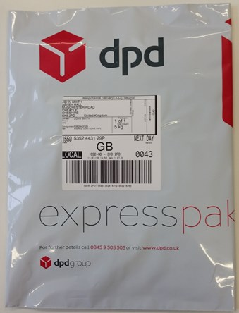 DPD packaging