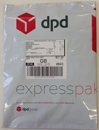 DPD packaging